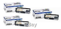 (3) Genuine Oem Brother Tn310bk Black Toner Set (3-pack) Brand New