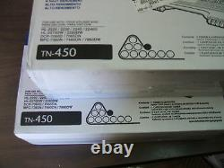 5 pack Brother TN450 Genuine OEM, open boxes USA seller TN-450 new