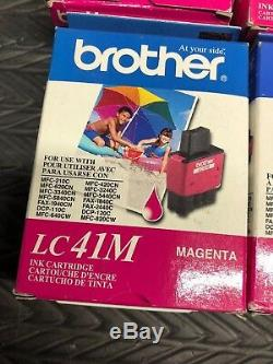 9 X Brother LC41M Magenta Ink Cartridge DCP-110C Genuine New OEM Expired