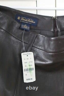 BROOKS BROTHERS NWT $498 Genuine Buttery Leather Lined Pencil Skirt Size 12