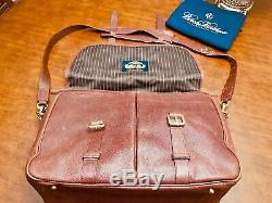 BROOKS BROTHERS New York Genuine Football Leather Briefcase / Messenger Bag