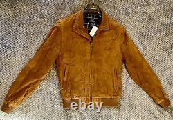 Brooks Brothers Genuine Suede Leather Bomber Style Jacket Size Small NWT NEW