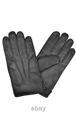 Brooks Brothers Men's Black Genuine Leather Thinsulate Gloves Sz Small S 8066-7