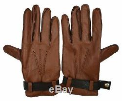 Brooks Brothers Men's Genuine Leather Cashmere Lined Gloves, Brown, Sz L, 8154-6