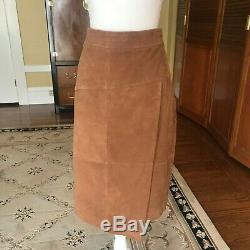 Brooks Brothers genuine goat suede skirt in rich honey color