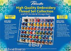 Brother ETKS63 Genuine 63 Spool Embroidery Thread Set With White Metal Rack