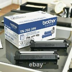 Brother Genuine High-Yield Black Toner Cartridge Twin Pack TN7602PK FASTSHIPPING