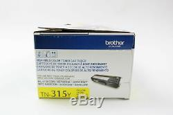 Brother Genuine High Yield Toner Cartridge, TN315Y, Replacement Yellow Toner