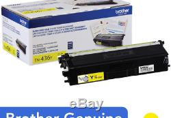 Brother Genuine Super High Yield Toner Cartridge, TN436Y, Replacement Yellow