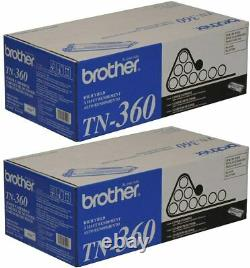 Brother Genuine TN360 High Yield Toner Cartridge (2 Pack) for HL-2140/MFC-7340