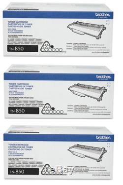 Brother Genuine TN850 High Yield Laser Black Toner, 3 Toners, Retail Condition