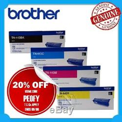 Brother Genuine TN-443 BK/C/M/Y High Yield Toner Set for 8260CDWith8360CDWith8690CDW