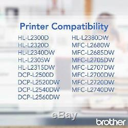Brother Genuine Tn660 2-Pack High Yield Black Toner Cartridge With Approximately