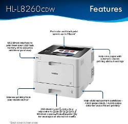 Brother HL-L8260CDW Color Laser Printer with Duplex Printing With GENUINE TONER