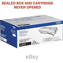 Brother TN880 Genuine Super High Yield Toner Cartridge Black NEVER OPENED SEALED