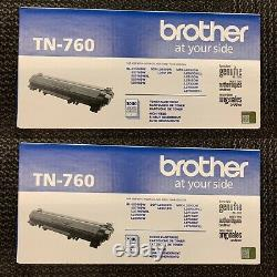 Brother TN-760 Toner Cartridges Lot Of 2 Factory Sealed Genuine New