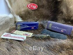 Case Brothers 82131 Canoe Knife With Genuine Paua Shell Handles Mint In Tin 32C