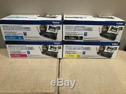 GENUINE BROTHER TN336 BK, M, Y & C- TONER SET (4-PACK) New, 1 Open Box