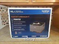 Genuine Brother Hl-l5200dw Laser Printer With Duplex And Wireless Fast Ship/ P