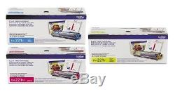 Genuine Brother TN221C TN221Y TN221M COLOR TONER SET MFC-9340CDW 9340CDW