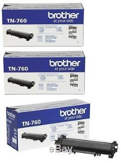 Genuine Brother TN760 High Yield Toner Cartridge. New & Sealed, Set of 3