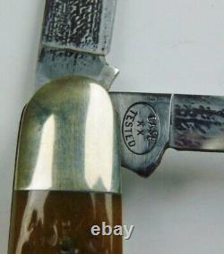 Genuine Case Brothers G63091 Knife Vintage Green Bone Handle With COA/Box