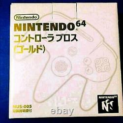 Genuine Product Nintendo 64 Controller Official Bros Gold Japan Unopened New