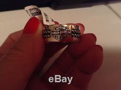 Harley-Davidson Men's 9.25 genuine SILVER Band of Brothers Ring NEW size 13