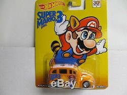 Hot Wheels New Super Mario Bros. 3 School Busted with Real Rider Tires