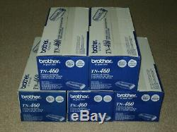 Lot (5) Genuine Brother Tn460 Tn-460 High Yield Toner Factory Sealed Boxes
