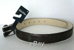 Mens Brooks Brothers Leather Belt Real Alligator Sz 34 Made in ITALY 925 $398.00