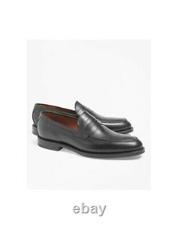 NIB-Genuine BROOKS BROTHERS Black Penny Loafers sz 9-1/2D(see size note)