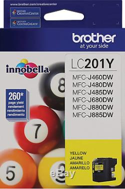 New Genuine Brother LC201 Yellow Ink Cartridges MFC-J485DW MFC-J460DW