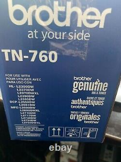 One 1 Genuine OEM Brother TN760 Black High Yield Toner Cartridge DCP HL MFC New