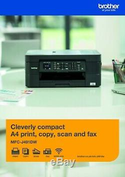 Printer Multifunction Colour Brother MFC J491DW Wifi Printing Duplex Stock Real