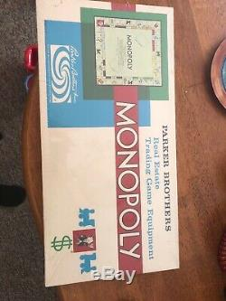 Vintage Monopoly Real Estate Trading Board Game Equipment Parker Brothers 1954